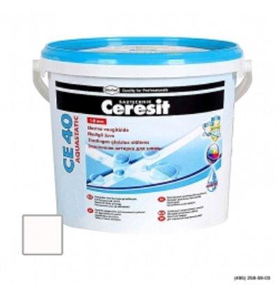 Церезит CE 40 Aquastatic водостойкий шов (до 5мм) белый, 2кг