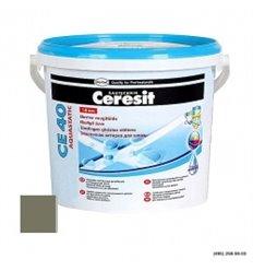 Затирка для швов Церезит CE 40 Аквастатик водостойкий шов (до 5мм) оливковый, 2кг