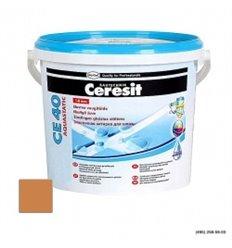 Затирка для швів Церезіт CE 40 Аквастатік водостійкий шов (до 5мм) Сієна, 2 кг