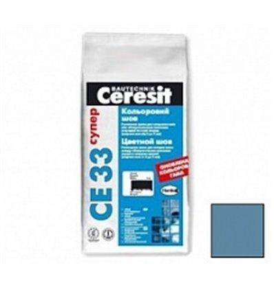 ЦЕРЕЗИТ затирка для швов (до 5мм)Ceresit СЕ 33 Super голубой,2кг