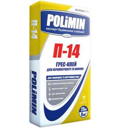 Полиминм П-14 Gres клей для крупногабаритных плит, 25кг
