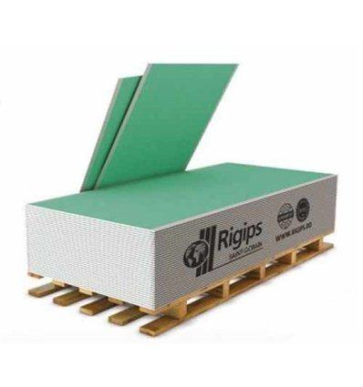 Гипсокартон РИГИПС влагостойкий 9,5 мм х 1200 х 2500 Rigips