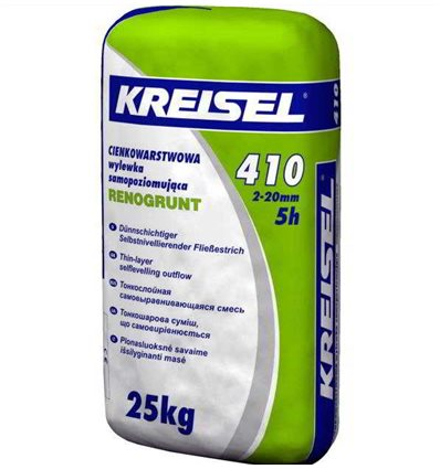 КРАЙЗЕЛЬ 410 самовыравнивающая смесь 2-20мм Kreisel 410, 25кг