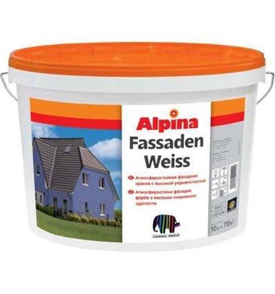 АЛЬПИНА водоэмульсионная краска Fassadenweiss B3 9,4 л.