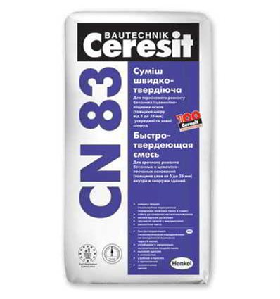 CN-83 Церезит самовыравнивающаяся смесь Ceresit CN-83, 25 кг