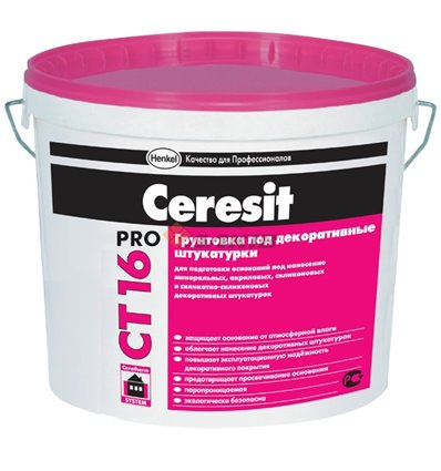 Грунтующая краска Ceresit СТ 16 Pro, 10 литров