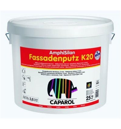 Декоративная штукатурка Amphisilan-Fassadenputz K 20 world Transparent. Размер зерна 2,0.