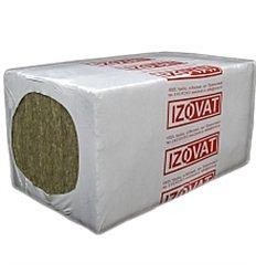 Базальтова вата Izovat 80 пл.80кг / м3 100мм 1000 х 600мм Изоват, в уп. - 2,4м2