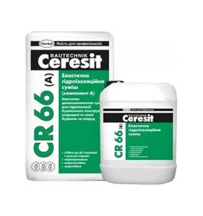 CR-66 Ceresit двухкомпонентная гидроизоляция, 17,5кг/5л