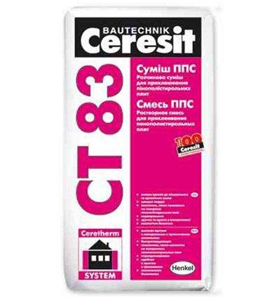 Клей Церезит CT-83 для крепления плит из ППС, 25кг