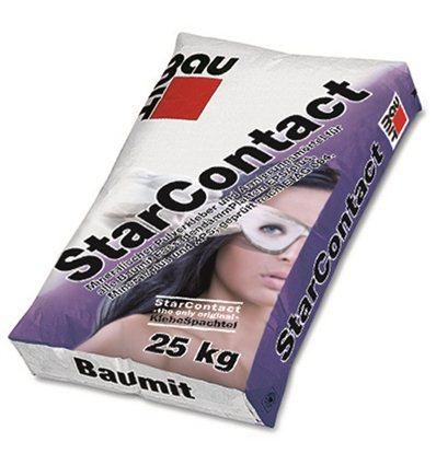 Клей для приклеивания МВ и ППС Баумит СтарКонтакт, 25 кг