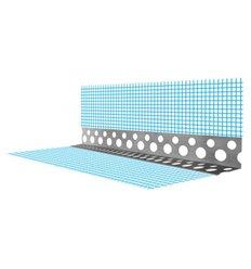 Уголок алюминиевый перфорированный со стеклосеткой, 3м Эконом