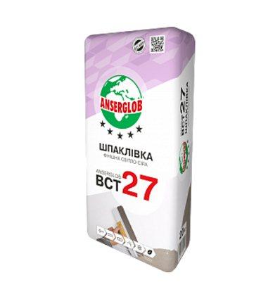 Шпаклёвка Ансерглоб ВСТ-27,финишная,светло-серая, 20кг