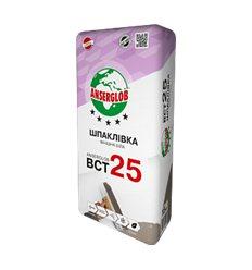 Шпаклівка Ансерглоб ВСТ-25 фінішна супер-біла, 15кг