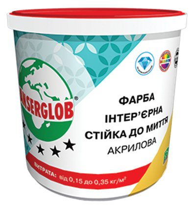 Краска акриловая интерьерная стойкая к мытью Ансерглоб,7,5л