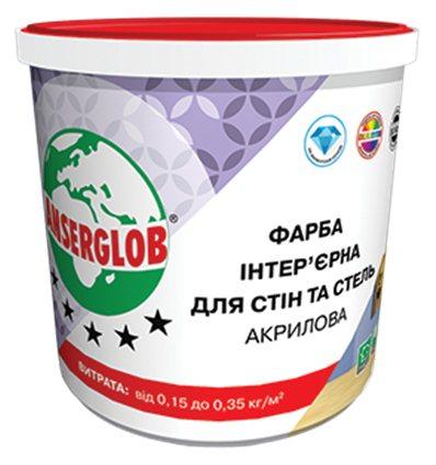 Краска акриловая интерьерная для стен и потолков Ансерглоб, 7,5л