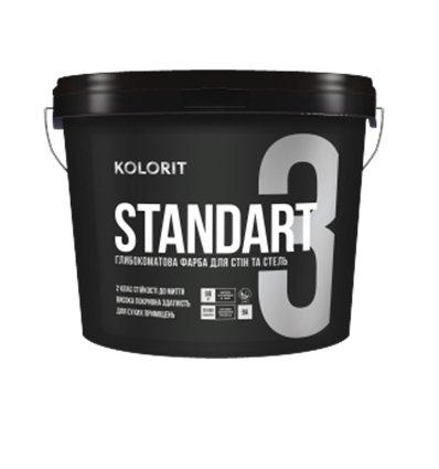 Краска Колорит Standart 3 (Interior Standart) глубокоматовая, 9л