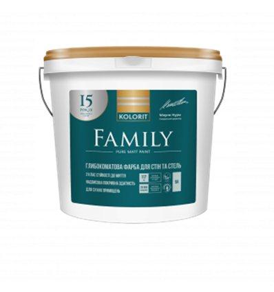 Краска Колорит Family (Interior Premium 3) глубокоматовая, 9л