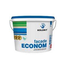 Латексная краска Колорит Фасад Эконом (FACADE ECONOM), 10л