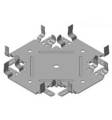 """Соединитель одноуровневый крестовой для CD-60 (0,55мм) """"Краб"""" Проф"""