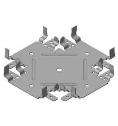 """Соединитель одноуровневый крестовой для CD-60 """"Краб"""" (0,55мм)"""
