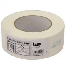 Стрічка паперова Кнауф Курт для швів ГКЛ KNAUF Kurt 50мм, 75м