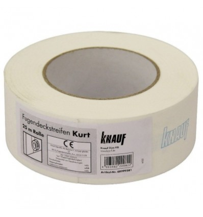 Лента бумажная для швов ГКЛ KNAUF Kurt 50мм, 25м