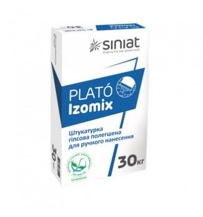 PLATÓ Izomix гипсовая штукатурка белая, 25кг