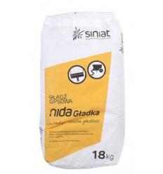 PLATO NIDA Gladka гипсовая шпаклёвка для ручного и машинного нанесения, 18кг
