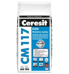 Клей для плитки, камня, керамогранита Церезит СМ-117 Flex, 25кг