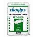 Шпаклёвка гипсовая Изо Экогипс стартовая Ekogips Izogips, 25кг
