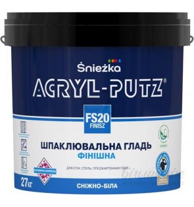 Финишная шпаклевка Снежка Акрил-Путц, акриловая, 27кг