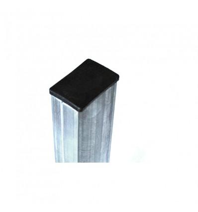 Столб 60х40х1,5мм Заграда (оцинк + ПВХ) высотой 2,5м