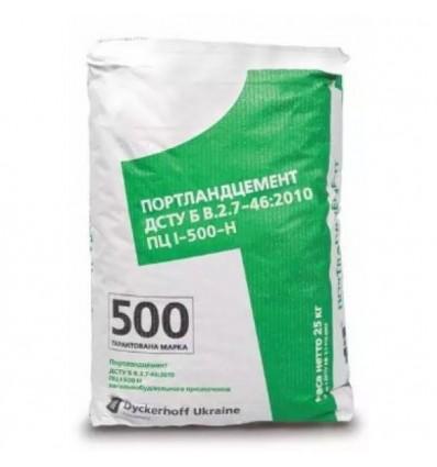 Цемент ПЦ I-500 Дикергофф заводская упаковка, 25кг
