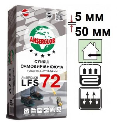 Самовыравнивающийся пол Ансерглоб LFS-72 (5-50мм), 25кг