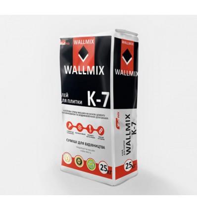 Wallmix К-7 клей для плитки, 25кг