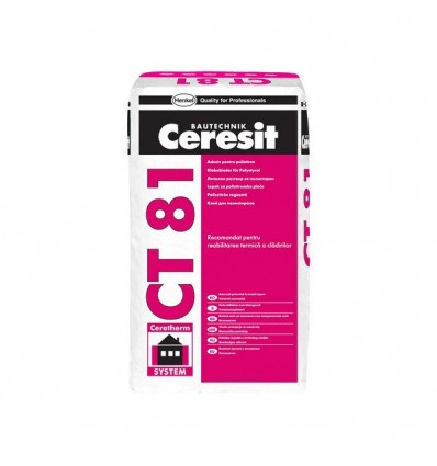 Ceresi CT-81 клей для приклеивания пенополистирола и минеральной ваты, 25кг