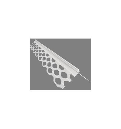 Угол для мокрой штукатурки пластиковый Плетёнка, 3м