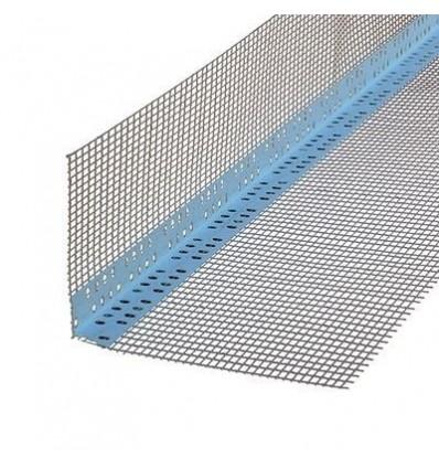 Уголок перфорированый пластиковый со стеклосеткой 7х7, 3м