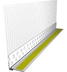 Профиль оконный примыкающий 6мм с сеткой 2,5м