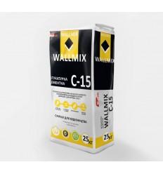 Wallmix C-15 штукатурка цементна для внутрішніх і зовнішніх робіт, 25кг