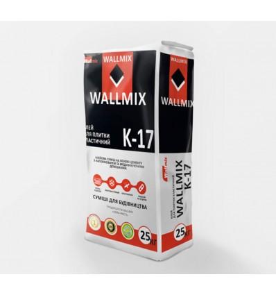 Wallmix K-17 клей эластичный для камня, плитки грес и полов с подогревом, 25кг