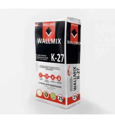 Wallmix K-27 клей для плитки высокоэластичный, 25кг