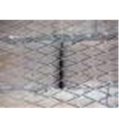 Сетка просечно-вытяжная штукатурная 17х40х0,6 мм оцинк. (11м.п.)