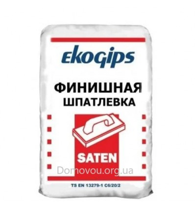 Сатенгипс Экогипс шпаклёвка финишная Satengips Ekogips,30 кг