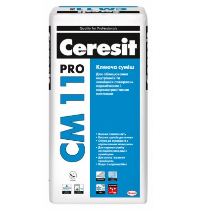 Клей для плитки Церезит СМ-11 Pro, 27 кг