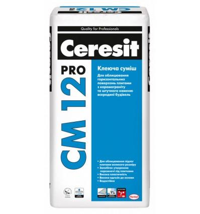 Клей для плитки, керамогранита Церезит СМ-12 Про, 27кг
