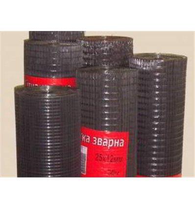 Сетка сварная штукатурная 12х25х0,9 мм чёрная (1,5х30м)