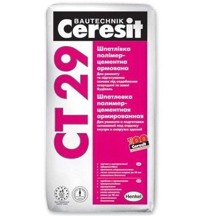 СТ-29 Ceresit шпаклевка минеральная стартовая, 25кг