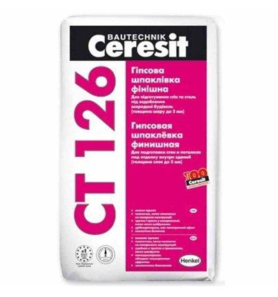 СТ-126 Ceresit шпаклевка гипсовая финишная (до 3мм), 25 кг